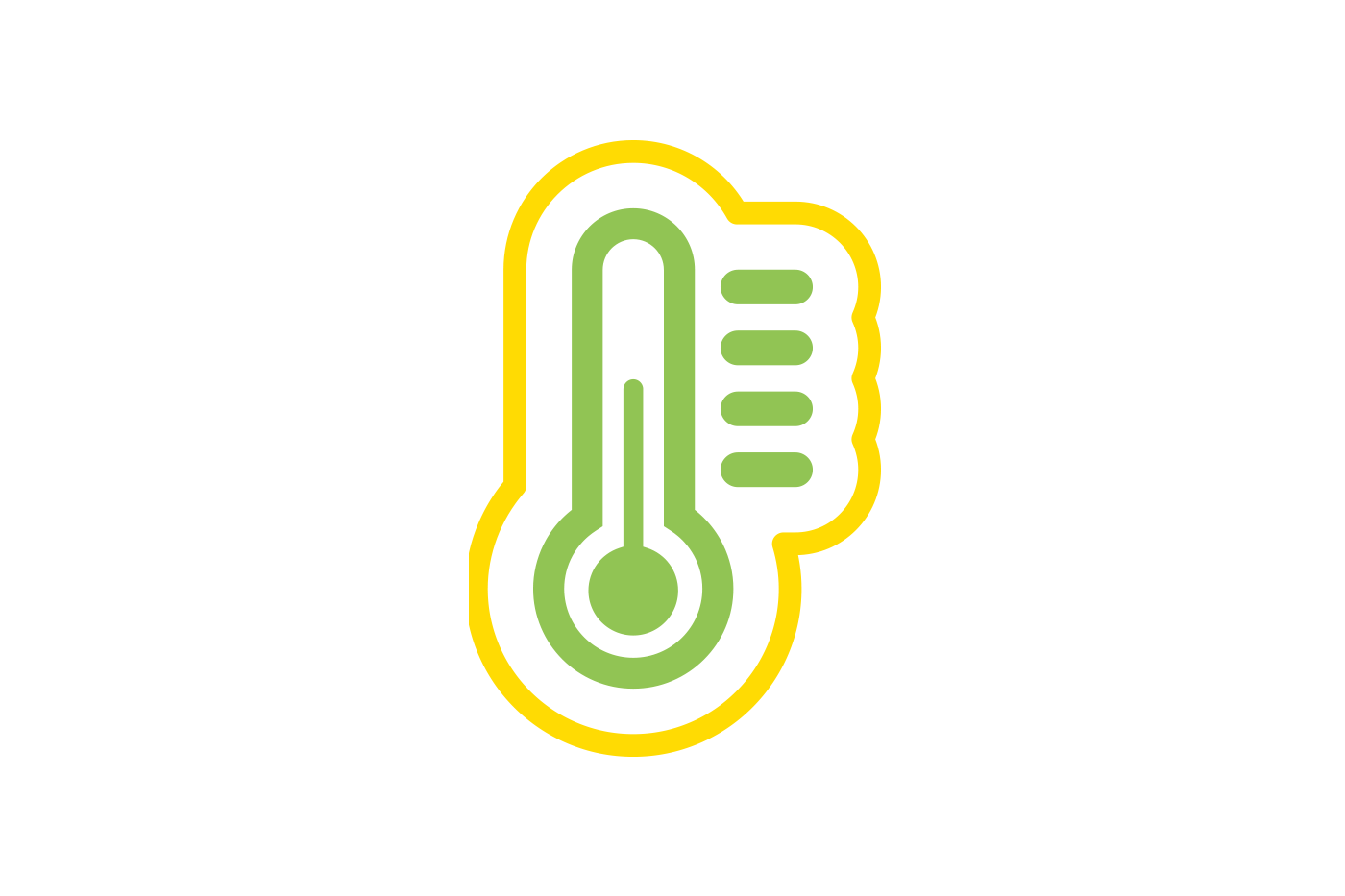 Temperature controlled storage icon