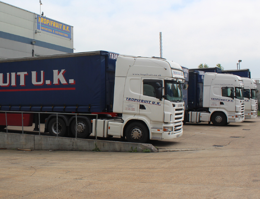 Tropifruit transport produce to customers in UK and Europe